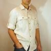 Мужская сорочка Navigator - Льняная рубашка с коротким рукавом.